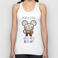 matty healy Tank Tops featuring Matty the Sporty Mouse by Squid&Pig