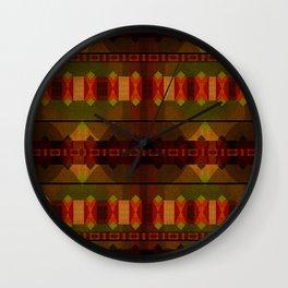 """Full Colors Tribal Pattern"" Wall Clock"