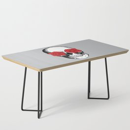 Skull and Roses | Grey and Red Coffee Table