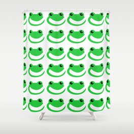 Smug Frogs Shower Curtain