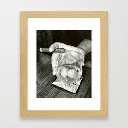 Cigar Shop Scenes No.2-Back & White Framed Art Print