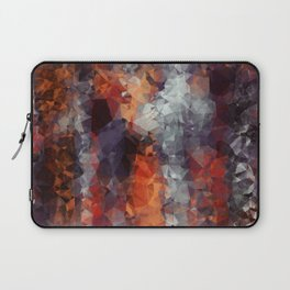 psychedelic geometric polygon shape pattern abstract in orange brown red black Laptop Sleeve