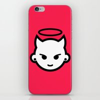 emoji iPhone & iPod Skins featuring Devious emoji by hello Malcolm