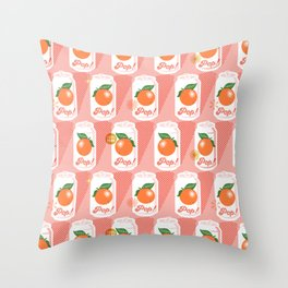 Pop Art Citrus (Mona) Throw Pillow