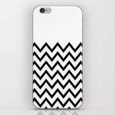 Black Chevron On White iPhone & iPod Skin