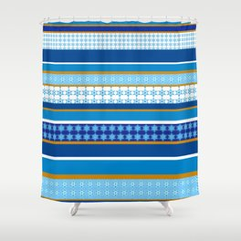 hanukkah wrap Shower Curtain