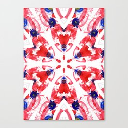 Red Blue Kaleidoscope Canvas Print