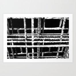 Rebar And Brick - Industrial Abstract Art Print