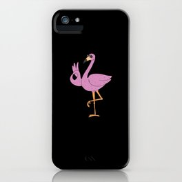 Sassy T shirt I flamingo sunglasses  iPhone Case