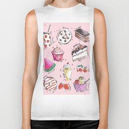 Food Love Biker Tank
