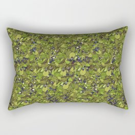 Blueberry Bushes Rectangular Pillow