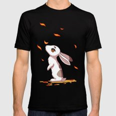 Autumn Hare Mens Fitted Tee MEDIUM Black