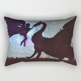 Fairy meets Dragon Rectangular Pillow