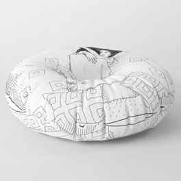 asc 547 - My New Year's resolutions - February Floor Pillow