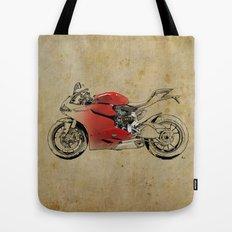Ducati 1199 Panigale - Original drawing   gift for men and bikers Tote Bag