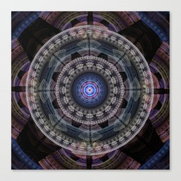 Modern mandala with tribal patterns Canvas Print