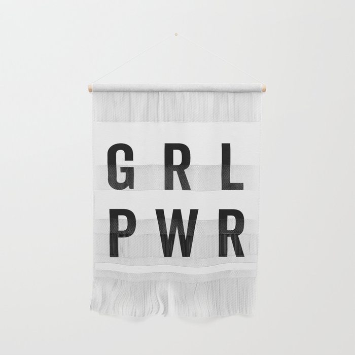 GRL PWR / Girl Power Quote Wall Hanging