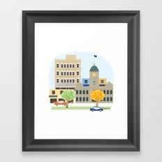 Home town Framed Art Print