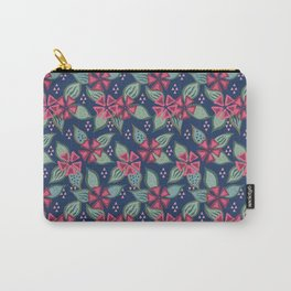 Rosy Periwinkle Carry-All Pouch
