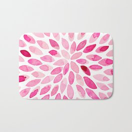 Watercolor brush strokes - pink Bath Mat
