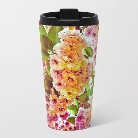 Polychrome Beauty In Full Bloom Metal Travel Mug