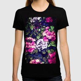 Pink Geraniums, Goddess Energy T-shirt
