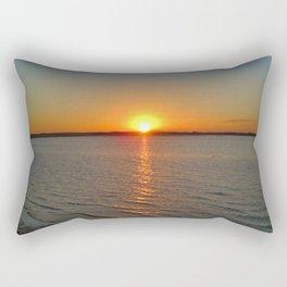 Winter Sunset Rectangular Pillow