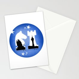 KNIGHT ROOK (Blue) Stationery Cards