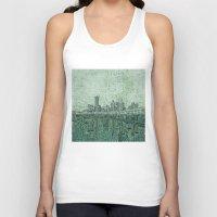 houston Tank Tops featuring houston city skyline by Bekim ART