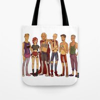 cargline Tote Bags featuring dirty hipster au by cargline