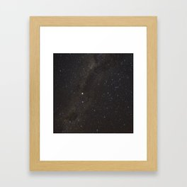 The Milky way and Stars Framed Art Print
