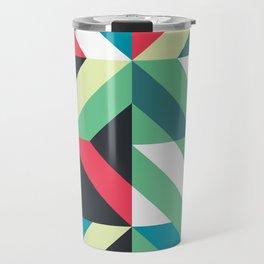 Colorful Shapes Texture, Retro Style, Travel Mug