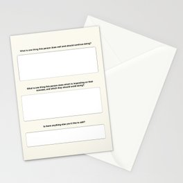 Performance Review Card Stationery Cards