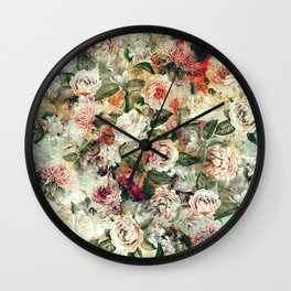 Floral Pattern RPE121 Wall Clock