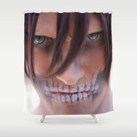 titan Shower Curtains featuring Titan by 3dbrooke