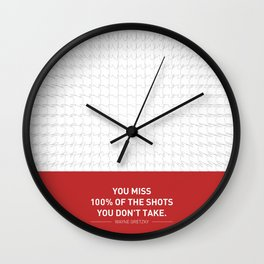 Lab No. 4 - Wayne Gretzky Hockey Player Quotes Poster Wall Clock