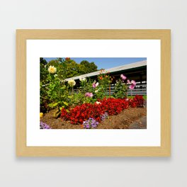 Flower Corner Framed Art Print