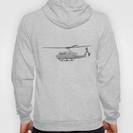 American Grey Attack Helicopter Hoody