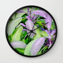 Leaf Abstract Wall Clock