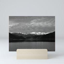 Winter Monochrome Lake Mini Art Print