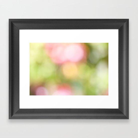 Pastel Bokeh  Framed Art Print