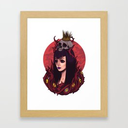 Princess of death Framed Art Print