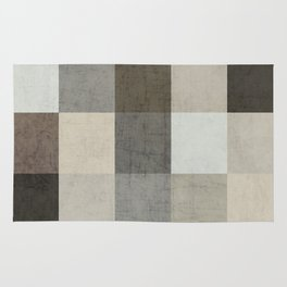 color block - gray Rug