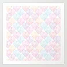 Patterns Of My Heart Art Print