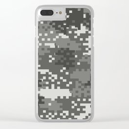 Pixel Urban Army Camo Pattern Clear iPhone Case