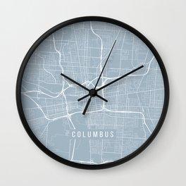 Columbus Map, USA - Slate Wall Clock
