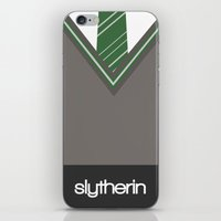 slytherin iPhone & iPod Skins featuring Slytherin by voldemort