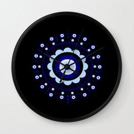 Evil Eye Flower Burst Wall Clock