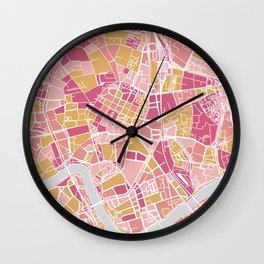 Cracow map Wall Clock