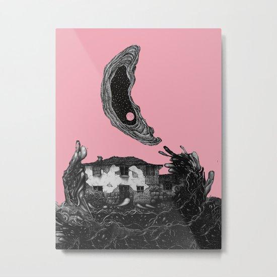 house/mon, pink# Metal Print